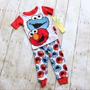 Other - NWT Sesame Street pajamas set 18 month Elmo